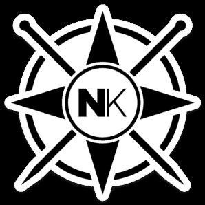 Nomadic Knits vinyl sticker logo sticker black on white