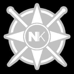 Nomadic Knits vinyl sticker logo sticker white on clear