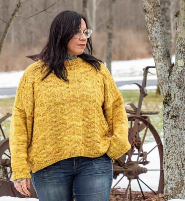 Amber Waves Knit Pullover