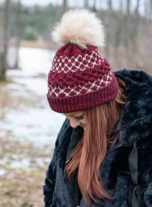 Huskers Hat knitting pattern yarn kit