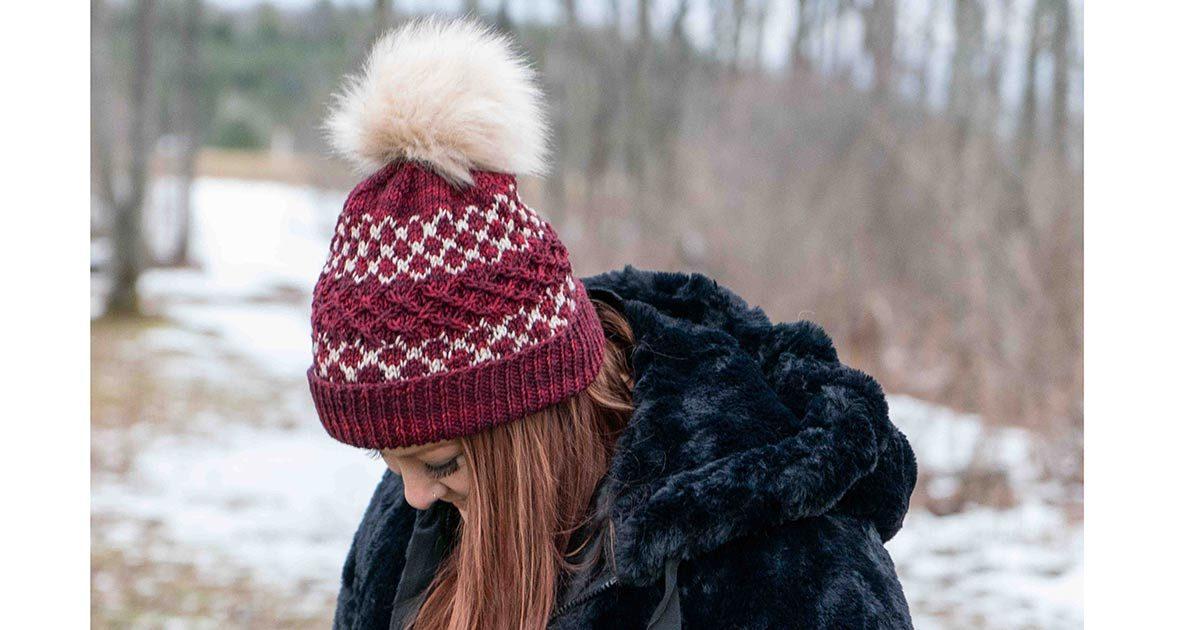 Fair isle hat with pom pom