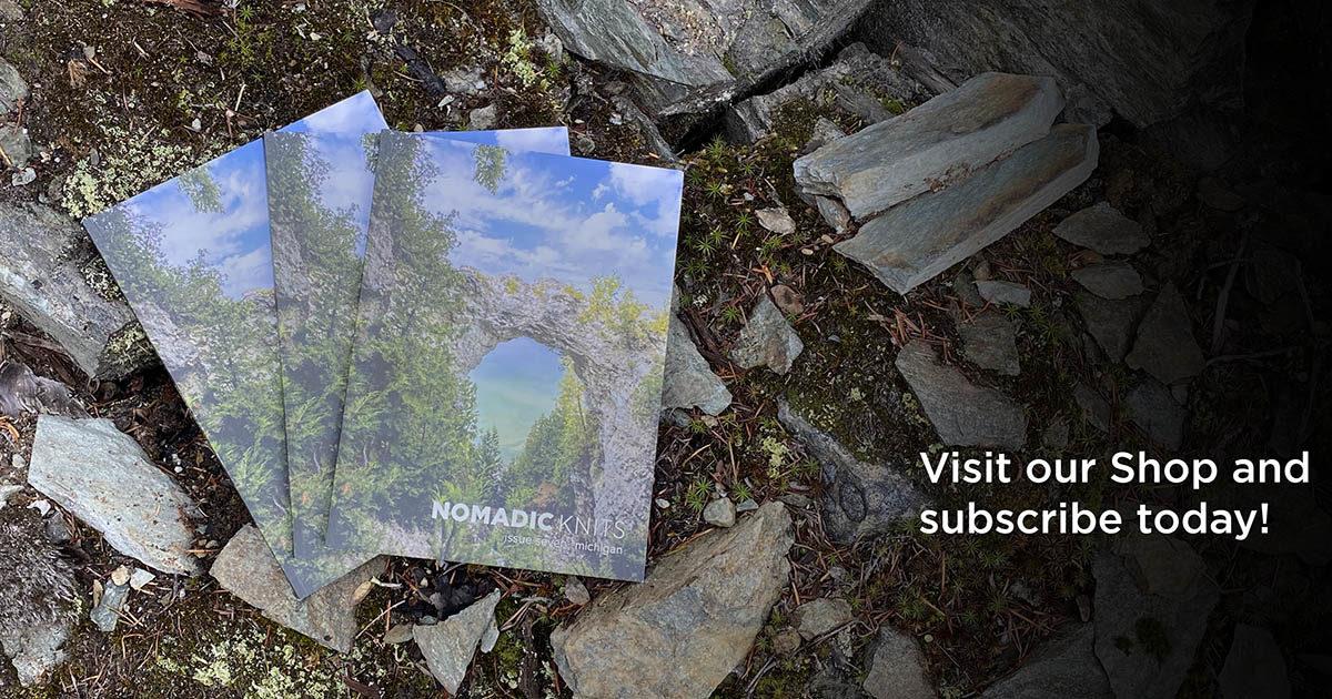 Nomadic Knits knitting magazine subscription