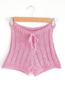 Jessie Mae's Butt Shorts knitting pattern using indie dyed yarn