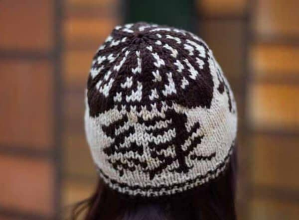 kanji hat knitting pattern indie dyed yarn