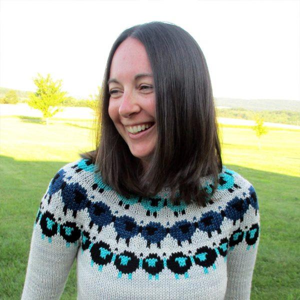 Melissa Kemmerer wearing knit sweater