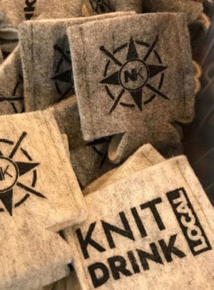 Nomadic Knits Drink Local Wool Coozies