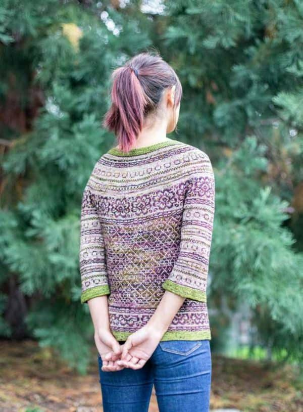 washington fair isle cardigan knitting pattern indie dyed yarn